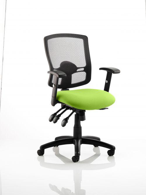 Portland III Black Mesh Back Bespoke Colour Seat Lime