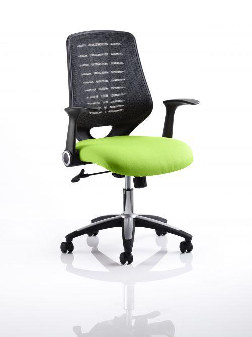 Relay Task Operator Chair Bespoke Colour Black Back Lime