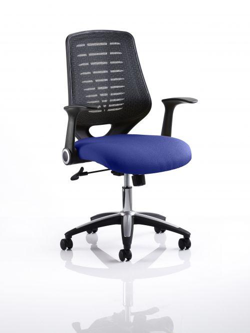 Relay Task Operator Chair Bespoke Colour Black Back Admiral Blue