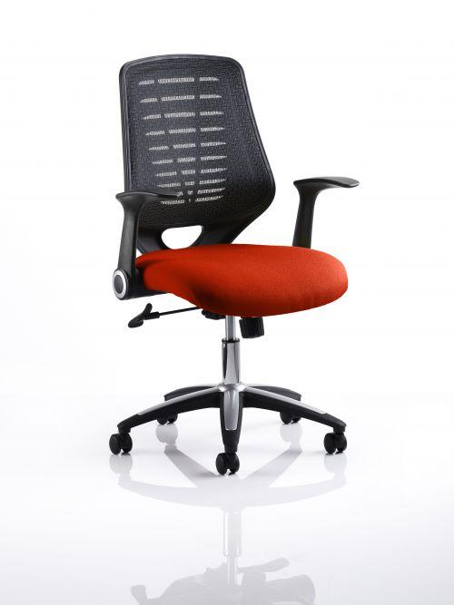 Relay Task Operator Chair Bespoke Colour Black Back Orange
