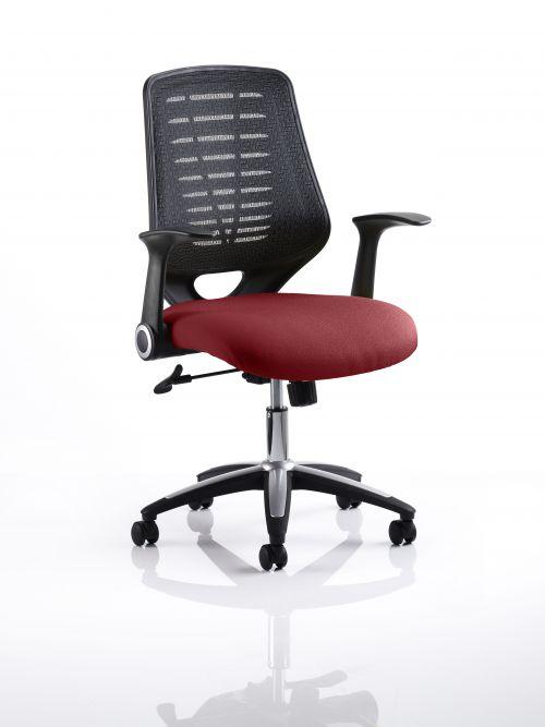 Relay Task Operator Chair Bespoke Colour Black Back Maroon
