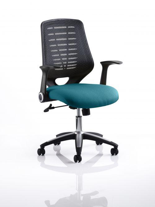 Relay Task Operator Chair Bespoke Colour Black Back Teal