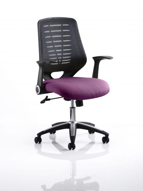 Relay Task Operator Chair Bespoke Colour Black Back Purple