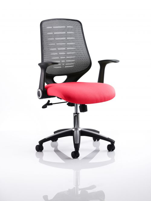 Relay Task Operator Chair Bespoke Colour Silver Back Post Box Red