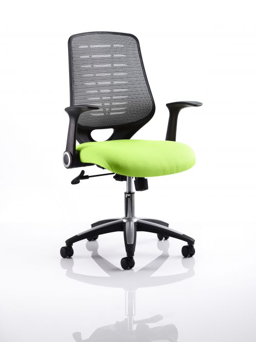 Relay Task Operator Chair Bespoke Colour Silver Back Lime
