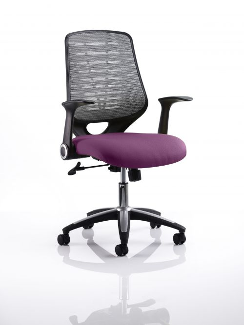 Relay Task Operator Chair Bespoke Colour Silver Back Purple