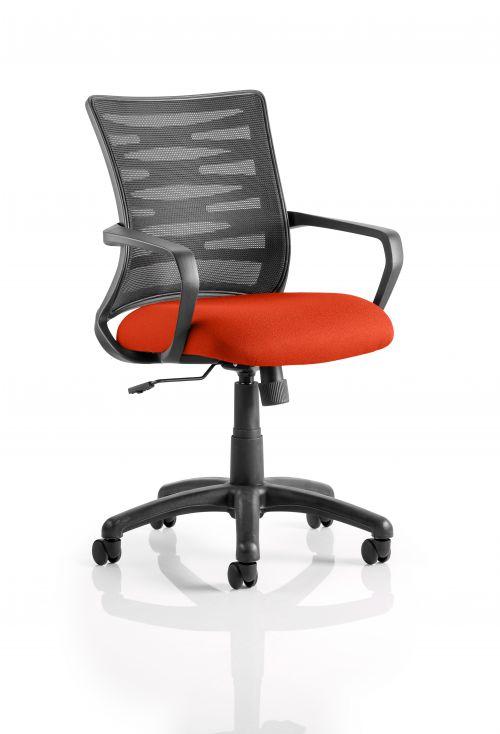 Vortex Task Operator Chair Mesh Back Bespoke Seat Tabasco Red KCUP0604