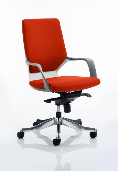Xenon Executive White Shell Medium Back Bespoke Colour Orange