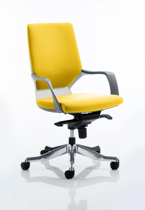 Xenon Executive White Shell Medium Back Bespoke Colour Yellow