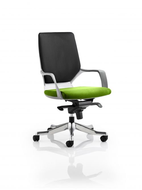 Xenon Executive White Shell Medium Back Bespoke Colour Seat Lime