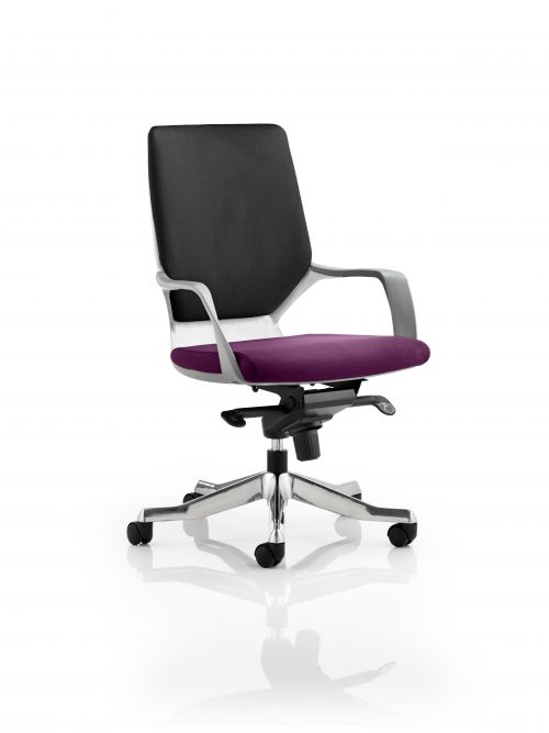 Xenon Executive White Shell Medium Back Bespoke Colour Seat Purple
