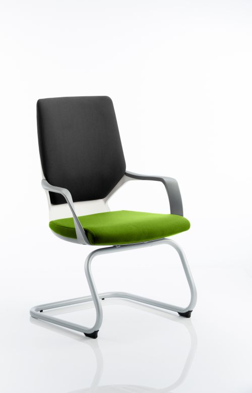 Xenon Visitor White Shell Bespoke Colour Seat myrrh Green