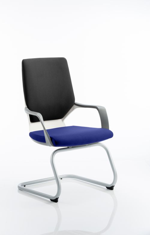 Xenon Visitor White Shell Bespoke Colour Seat Stevia Blue
