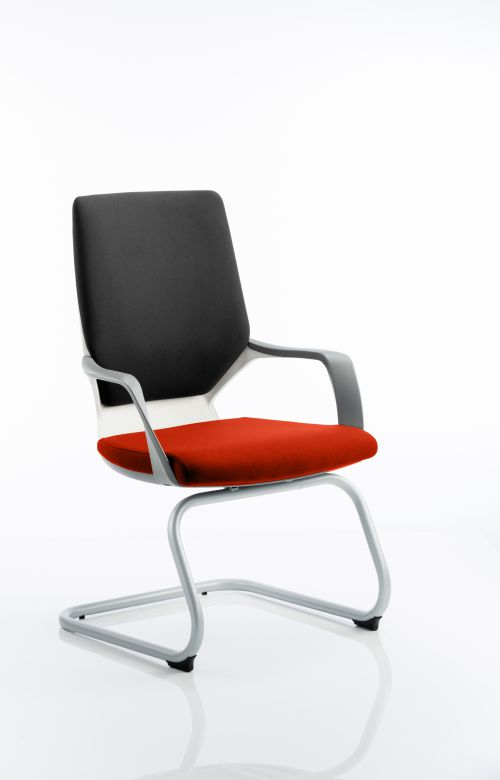 Xenon Visitor White Shell Bespoke Colour Seat Tabasco Red
