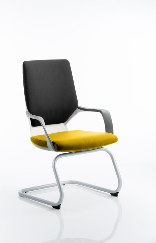 Xenon Visitor White Shell Bespoke Colour Seat Senna Yellow