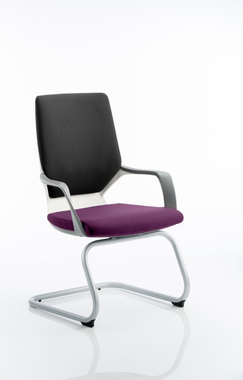 Xenon Visitor White Shell Bespoke Colour Seat Tansy Purple