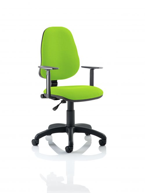 Eclipse I Lever Task Operator Chair Bespoke With Height Adjustable Arms In Lime
