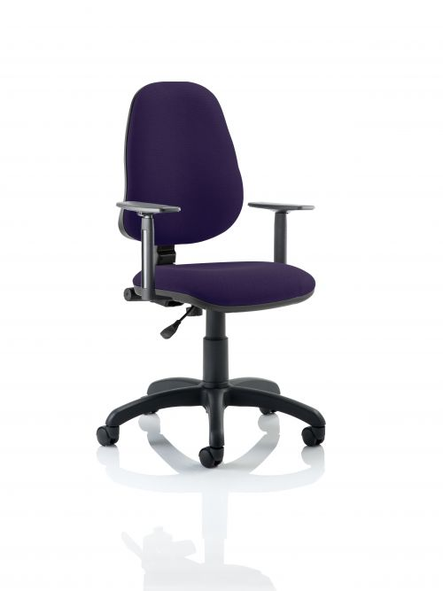 Eclipse I Lever Task Operator Chair Bespoke With Height Adjustable Arms In Purple