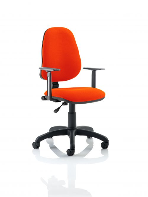 Eclipse I Lever Task Operator Chair Bespoke With Height Adjustable Arms In Orange