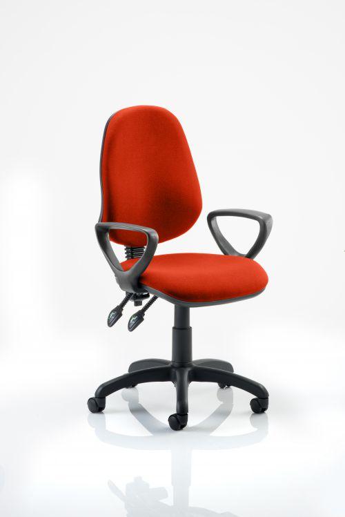 Eclipse II Lever Task Operator Chair Bespoke With Loop Arms In Orange
