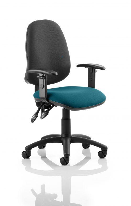 Peachy Eclipse Ii Lever Task Operator Chair Black Back Bespoke Seat With Height Adjustable Arms In Teal Ocoug Best Dining Table And Chair Ideas Images Ocougorg
