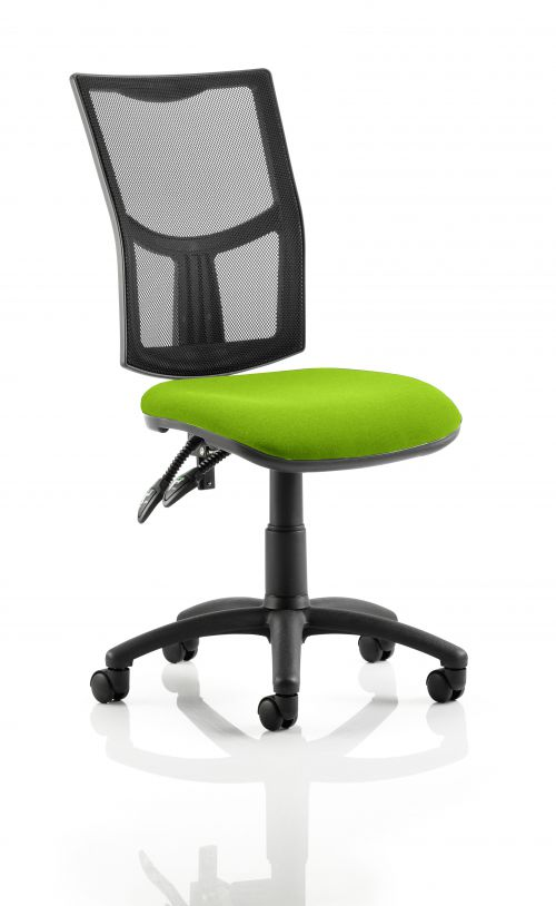 Eclipse II Lever Task Operator Chair Mesh Back With Bespoke Colour Seat in Lime