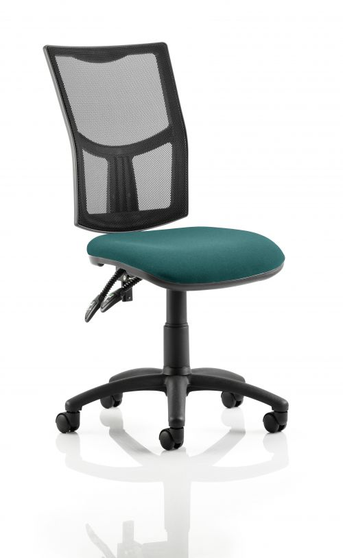 Eclipse II Lever Task Operator Chair Mesh Back With Bespoke Colour Seat in Teal