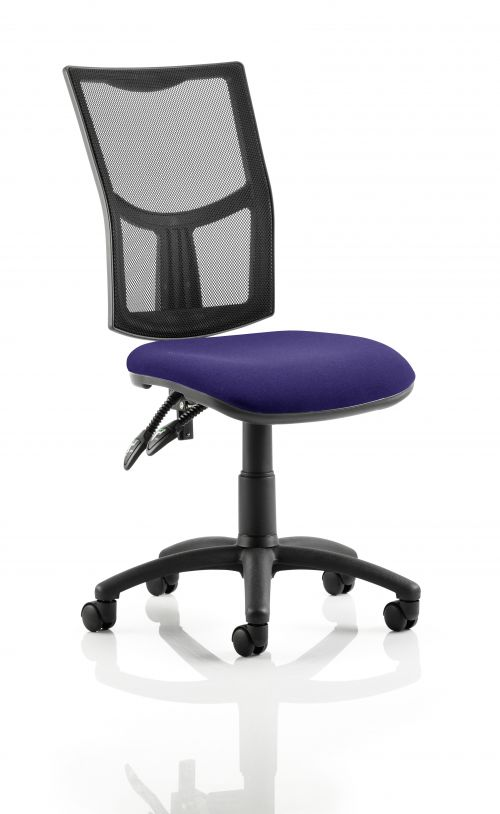 Eclipse II Lever Task Operator Chair Mesh Back With Bespoke Colour Seat in Purple