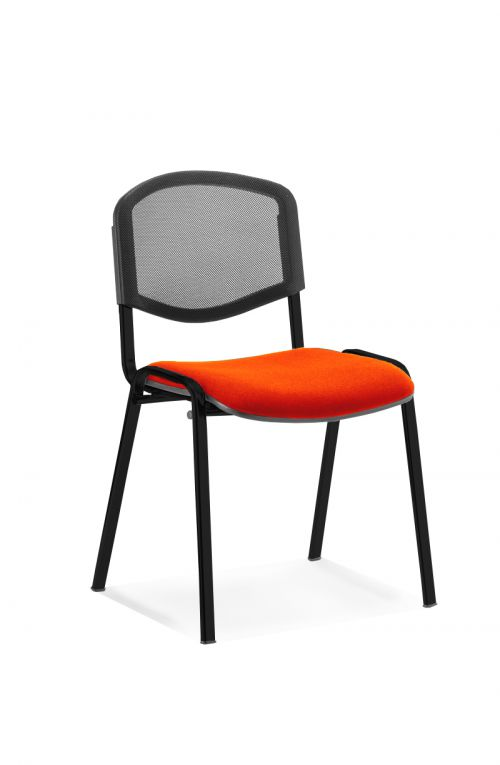 ISO Black Frame Mesh Back Bespoke Colour Fabric - (Min Order Qty X 4) Orange