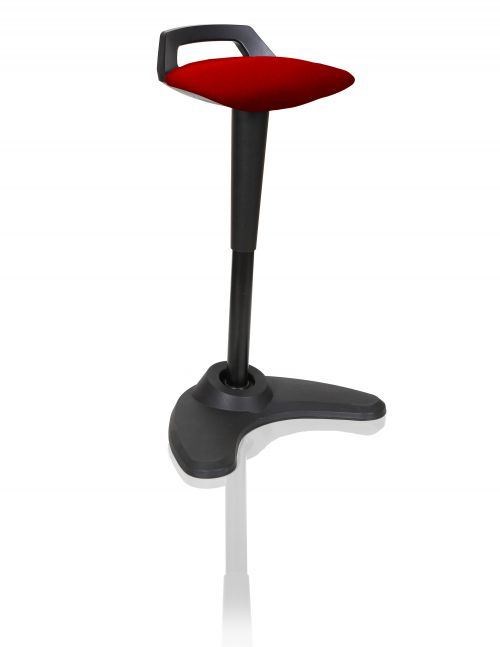 Spry Stool Black Frame Bespoke Colour Seat Post Box Red