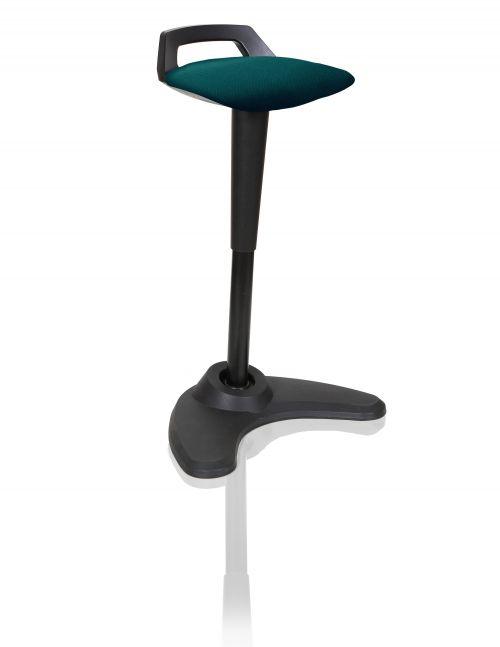 Spry Stool Black Frame Bespoke Colour Seat Teal