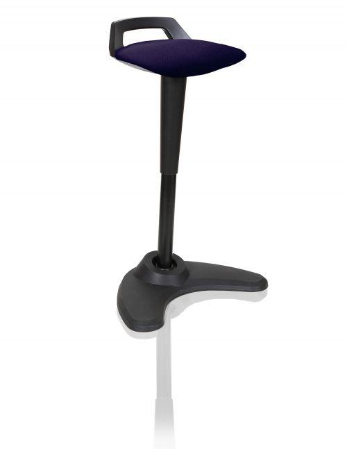 Spry Stool Black Frame Bespoke Colour Seat Purple