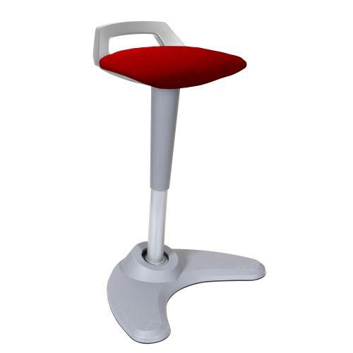 Spry Stool Grey Frame Bespoke Seat Bergamot Cherry KCUP1210