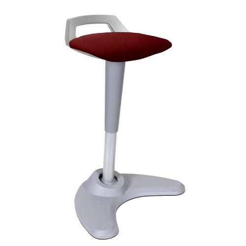 Spry Stool Grey Frame Bespoke Seat Ginseng Chilli KCUP1211