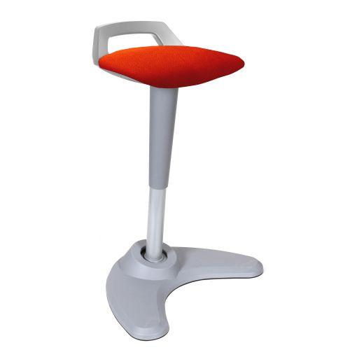 Spry Stool Grey Frame Bespoke Colour Seat Orange