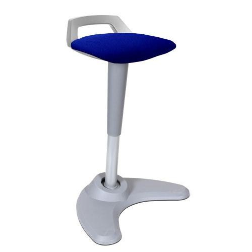 Spry Stool Grey Frame Bespoke Seat Stevia Blue KCUP1215