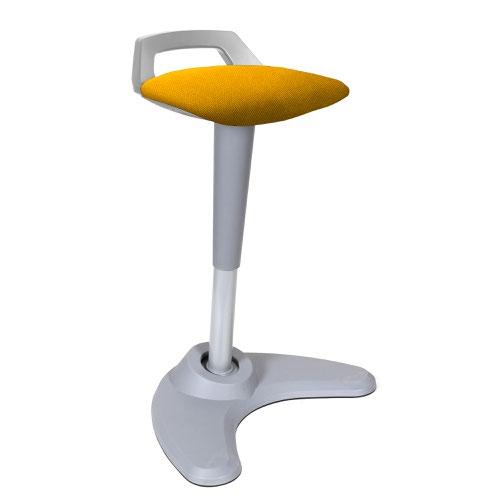 Spry Stool Grey Frame Bespoke Colour Seat Senna Yellow