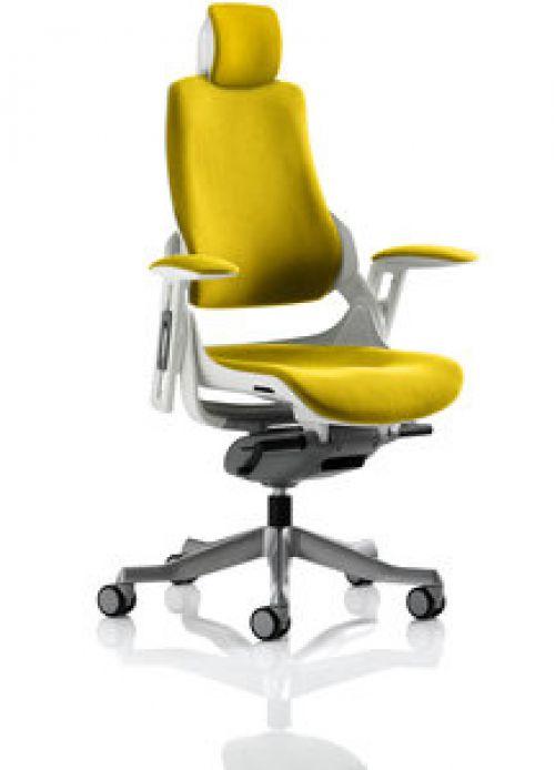 Zure With Headrest Fully Bespoke Colour Senna Yellow