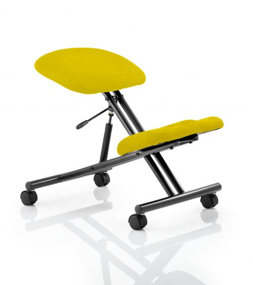 Kneeling Stool Black Frame Bespoke Colour Senna Yellow