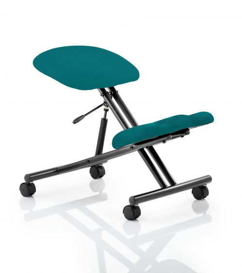 Kneeling Stool Black Frame Bespoke Colour Maringa Teal