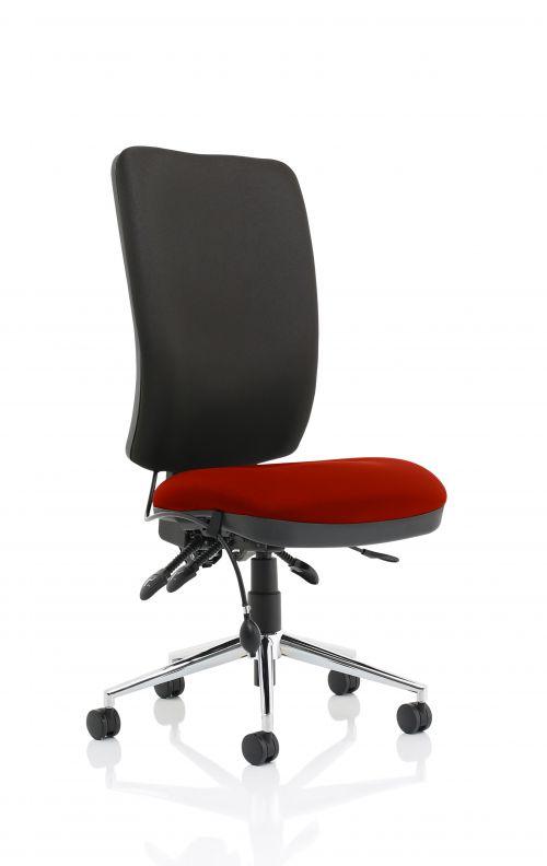 Chiro High Back Bespoke Colour Seat Ginseng Chilli No Arms