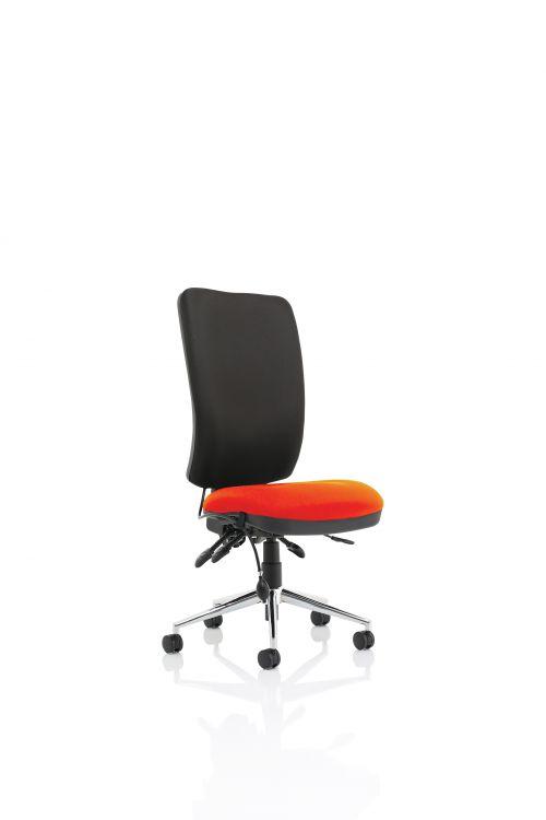 Chiro High Back Bespoke Colour Seat Orange No Arms