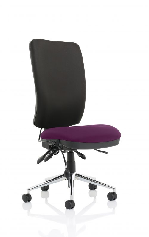 Chiro High Back Bespoke Colour Seat Purple No Arms