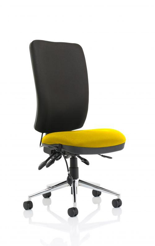 Chiro High Back Bespoke Colour Seat Yellow No Arms