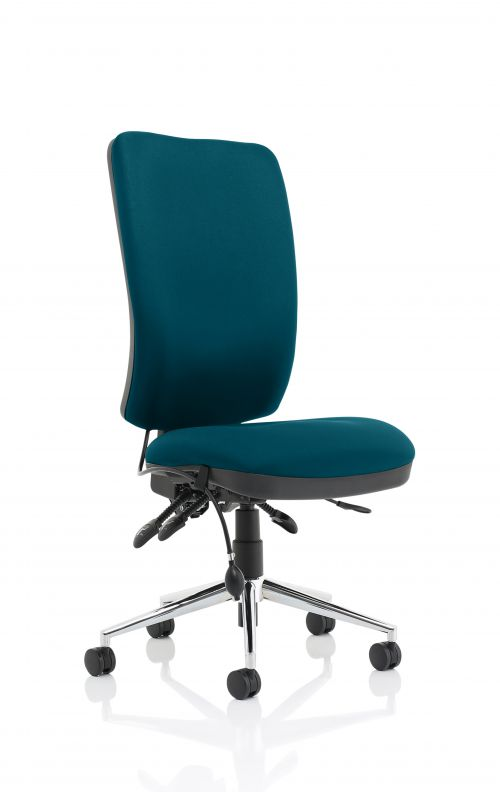 Chiro High Back Bespoke Colour Teal No Arms