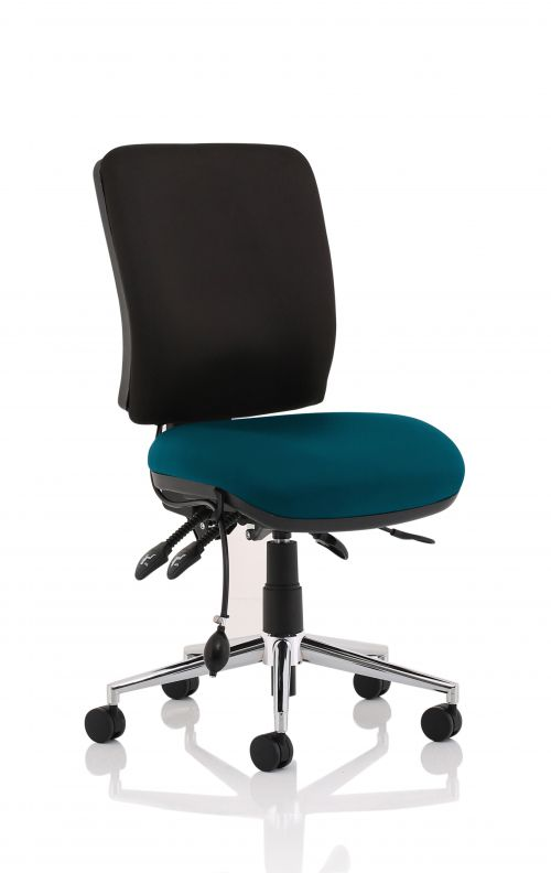 Chiro Medium Back Bespoke Colour Seat Teal No Arms