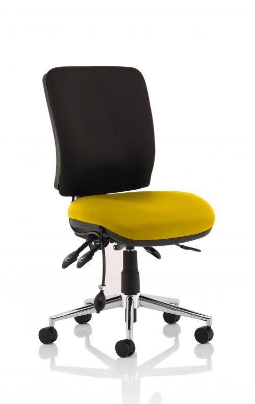 Chiro Medium Back Bespoke Colour Seat Yellow No Arms