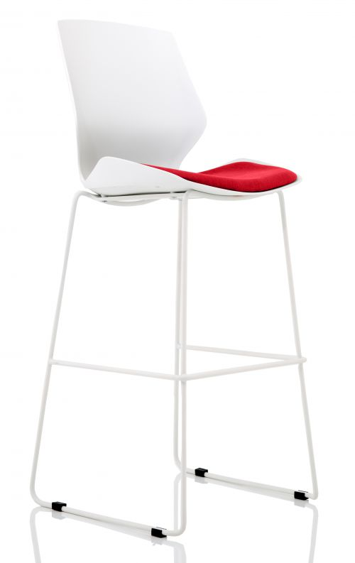 Florence White Frame High Stool in Bergamot Cherry