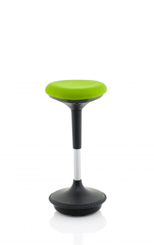 Sitall Deluxe Visitor Stool Bespoke Seat Myrrh Green KCUP1551