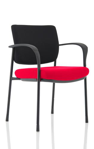 Brunswick Deluxe Black Fabric Back Black Frame Bespoke Colour Seat Bergamot Cherry With Arms